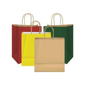 shopping bag / ถุงกระดาษคราฟท์ มีหูหิ้ว