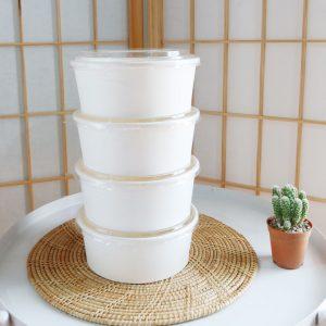 ถ้วยกระดาษสีขาว 500 ml / 16 ออนซ์ (ไม่รวมฝา)