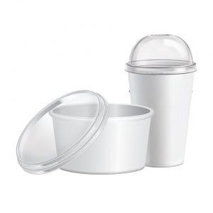 ฝาพลาสติก ปิดถ้วย แก้ว ชามกระดาษ